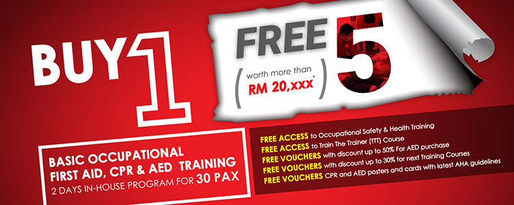 Buy 1 Free 5 - Only for Corporate Training! - Basic Occupational First Aid, CPR & AED Training