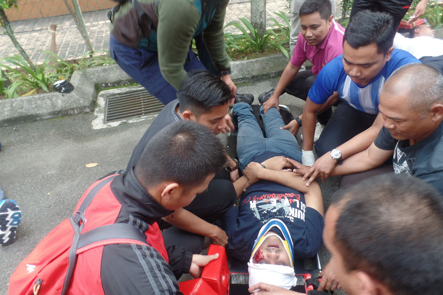 Make up injury first aid treatment mock drill training by CERT Academy