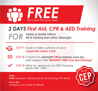 Free First Aid Training for Safety & Health Officers and, Human Resources personnel