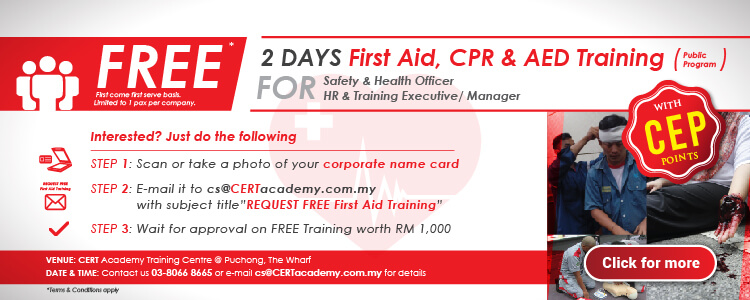 Free First Aid Training Certification Malaysia